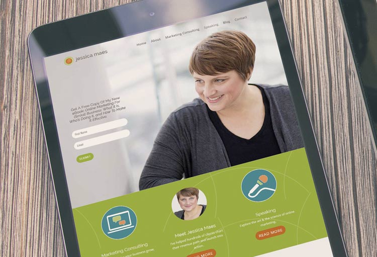 1 Day WordPress Website Madison for Jessica Maes
