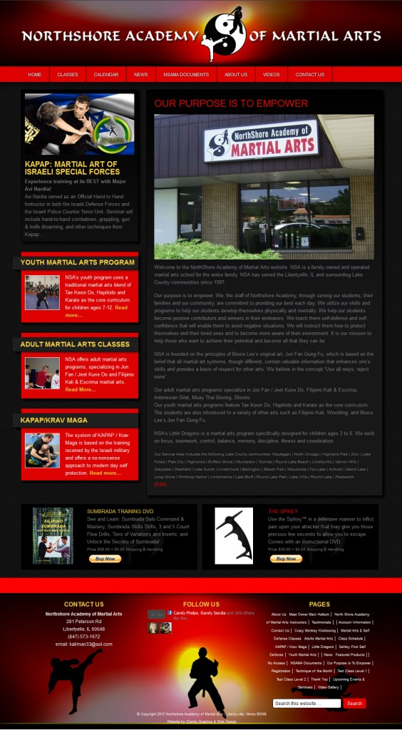 NSAMA custom WordPress website