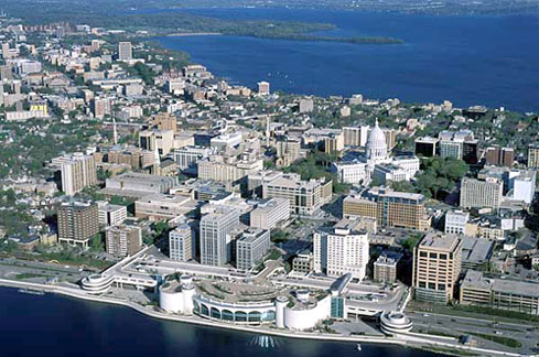 The Beautiful Downtown Madison Wisconsin