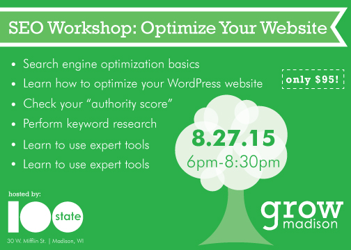 search engine optimization seo workshop wisconsin