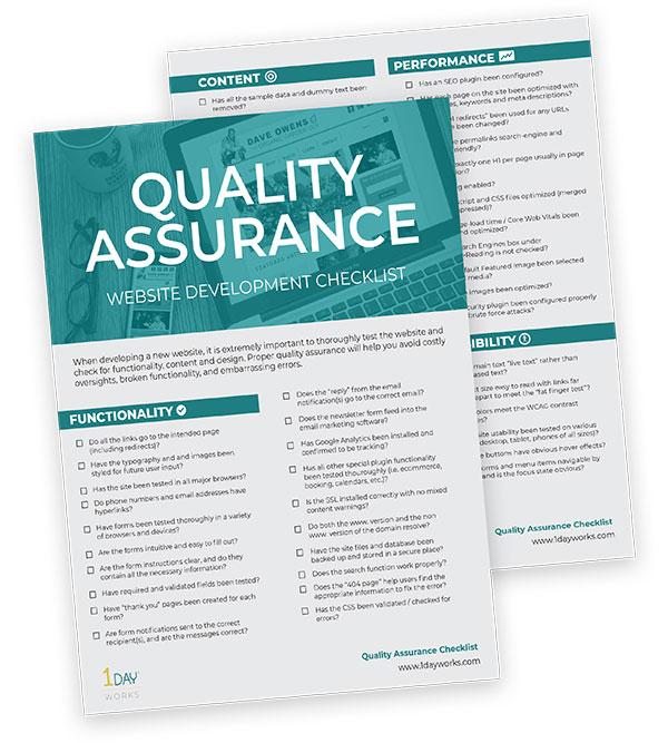 Quality Assurance Website Checklist