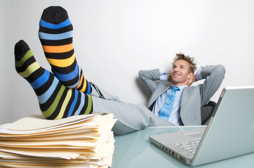 Man relaxing after a WordPress website launch