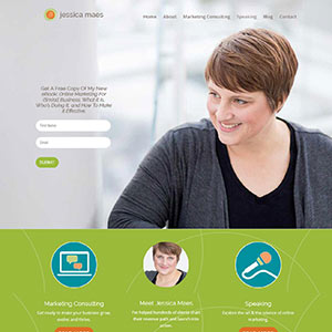 Jessica Maes WordPress Website