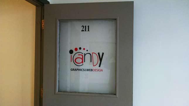 iCandy Graphics & Web Design Office Door