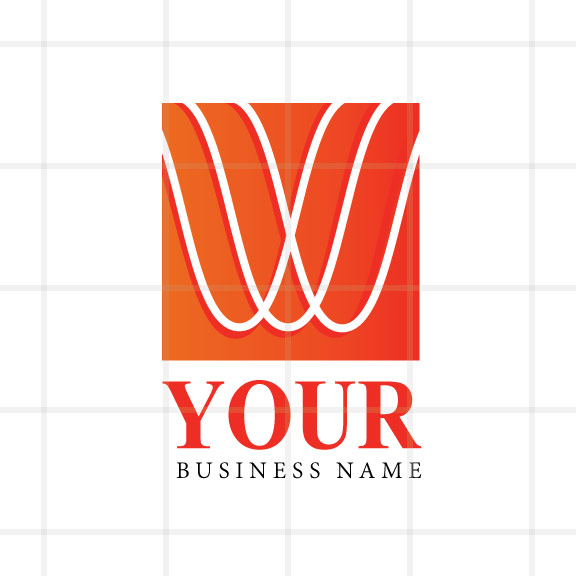Bold Orange Soundwaves Logo Design