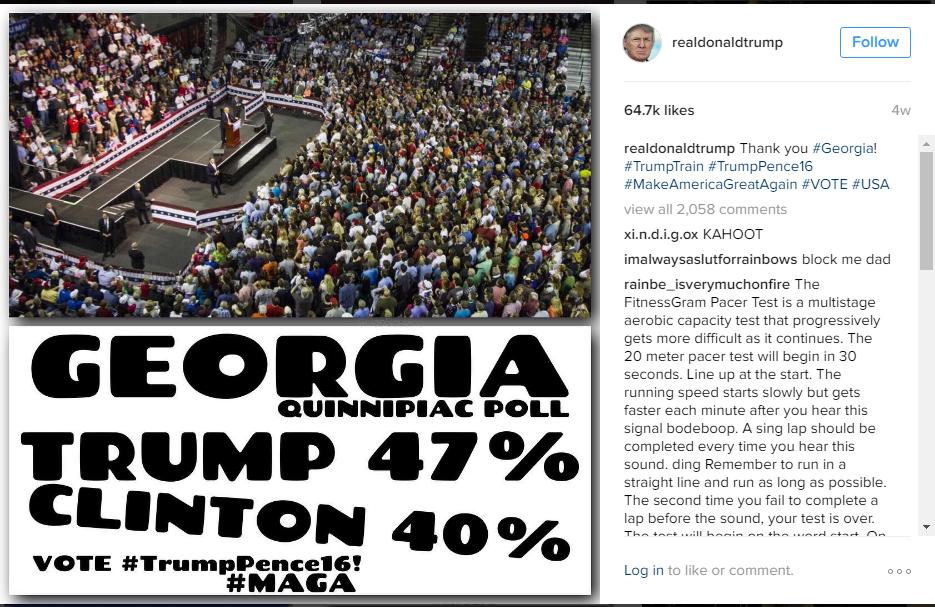 Bad graphic design by Trump
