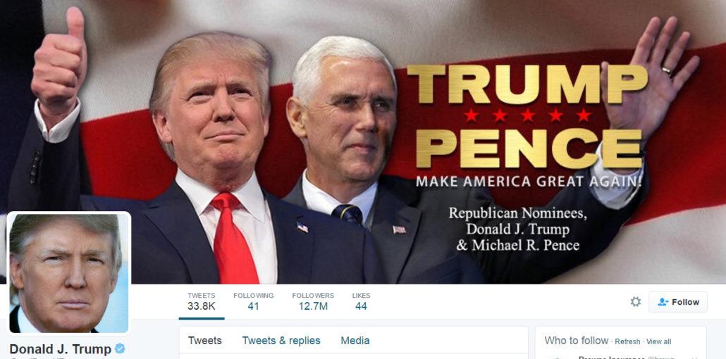 Trump Twitter header