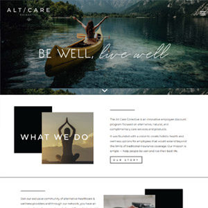 The Alt Care Collective One Day Website by Bizzy Bizzy