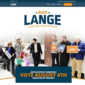 1 Day Website for political campaign Alex Lange