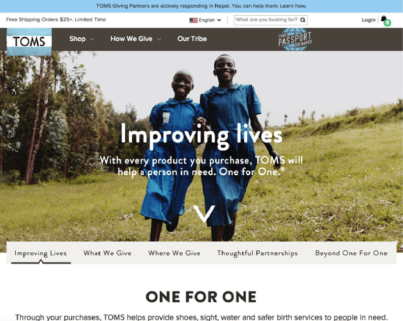 Brand Story: Toms Shoes