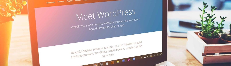 WordPress Website on a laptop