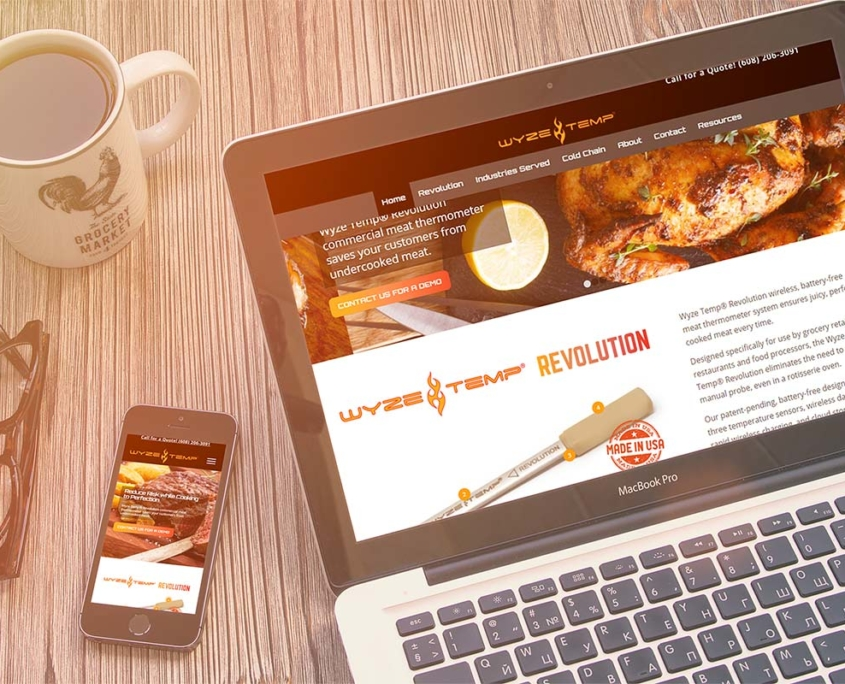 Website in a day with Wyzetemp Food Device Manufacturer
