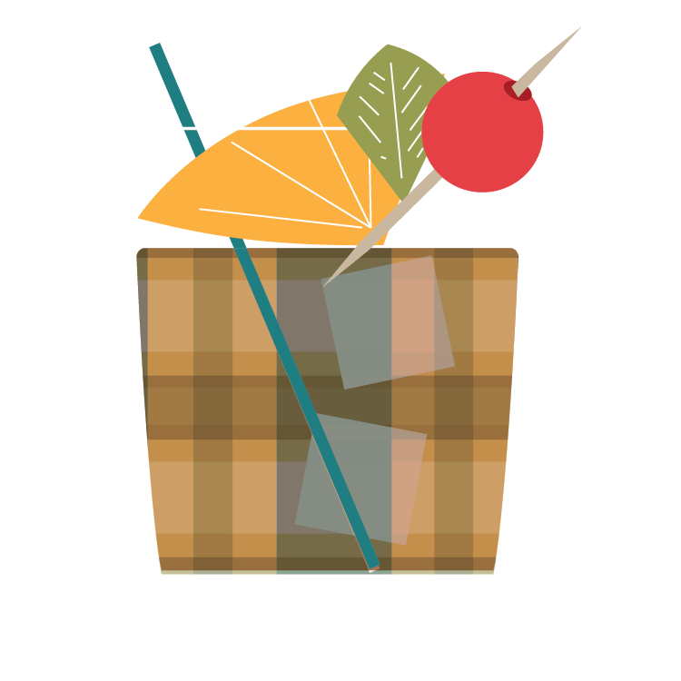Graphic illustration of Bizzy Bizzy Brandy Mash Up